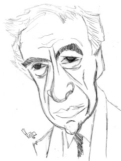 Elie Wiesel Caricature Sketch by Ian Davy Brown