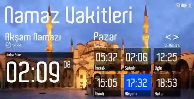 مواقيت الإمساك والافطار في تركيا