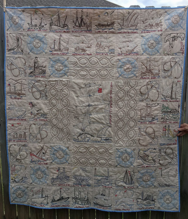 American Ships Quilt ~ Sewing by Shirley