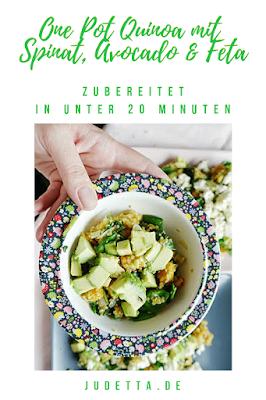 Quinoa als One Pot Gericht auch als Essen für Kinder, einfach und lecker | #inunter20 | judetta.de