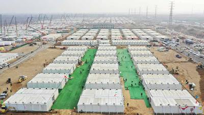 Campos de concentração para pacientes da covid
