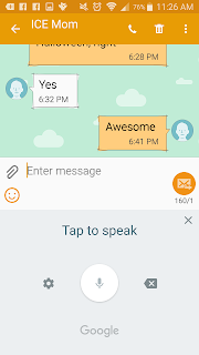 tap to speak on Samsung Galaxy phone