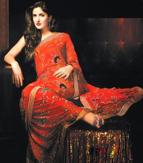 Katrina Kaif in saree bollywood actress rare old photoshoot