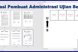 Aplikasi Pembuat Administrasi Kegiatan Ujian Sekolah Tahun 2018/2019