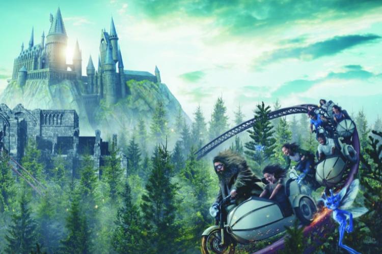 Hagrid's Magical Creatures Motorbike Adventure Opening