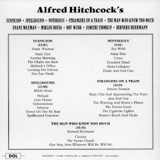 Back - Alfred Hitchcock's Five Movie Original Scores