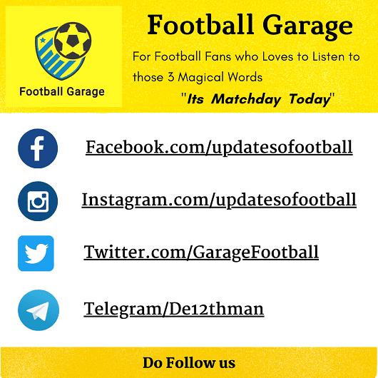 Football Garage on Social Media Platforms like Facebook, Instagram, Twitter and Telegram