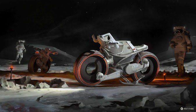 Lunar Motorcycle Concept - West Studio