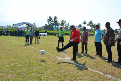 Kompetisi Sepakbola Liga Desa Nusantara 2019 Dibuka Bupati