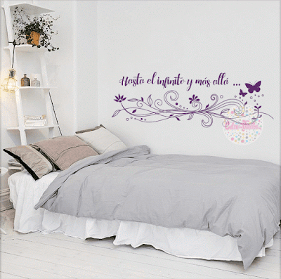 Vinilo mariposa floral