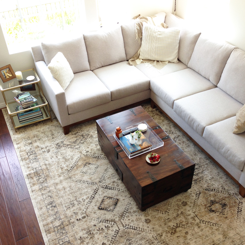 Area Rug For A Neutral Living Room Home And Harmony