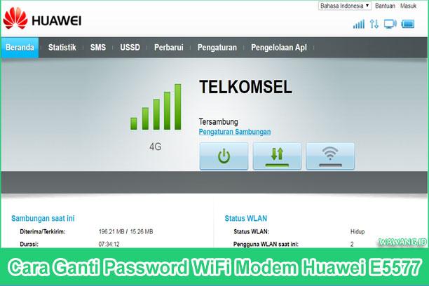 2 cara mengganti sandi atau password wifi modem huawei e5577 melaui web dan melalui aplikasi