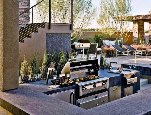 Konsep dan Model Dapur Luar Ruangan Minimalis