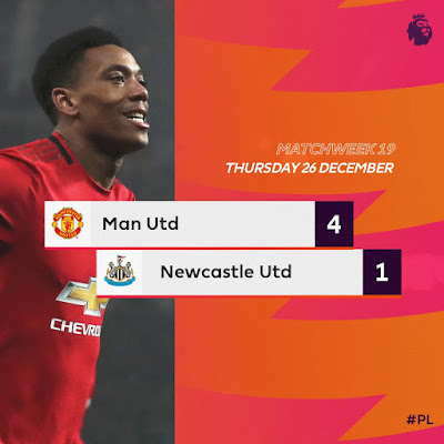 Ole Gunnar Solskjaer Man United came back from a goal down to thrash Newcastle United four goals to one at Old Trafford with Anthony hit brace alongside Greenwood and Rashford who both scored one each.
