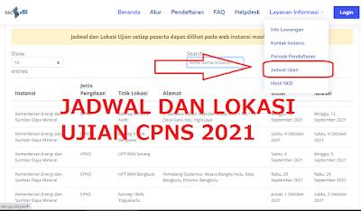 SEGERA! Berikut Cara Cek Jadwal dan Lokasi Ujian CPNS PPPK Tahun 2021 di Laman SSCASN.bkn.go.id