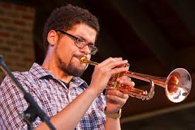 Josh Evans, trumpet soloist with the New Directions Ensemble