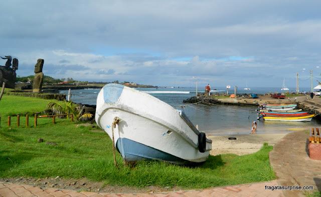 Ilha de Páscoa, Caleta de los Pescadores, Hanga Roa