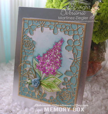 mothers day card lilac bouquet in watercolor last view