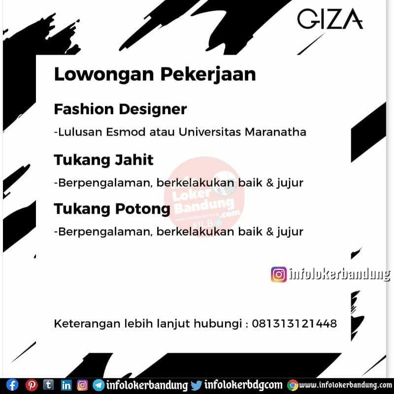 Lowongan Kerja Giza Bandung Februari 2021