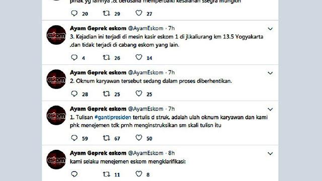 Kasir Restoran Kasih Struk Bertagar 2019 Ganti Presiden, Warganet Heboh