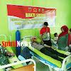 Personel Satgas TMMD 105  Kodim 1424/Sinjai Gelar Donor Darah, Untuk Kemanusian