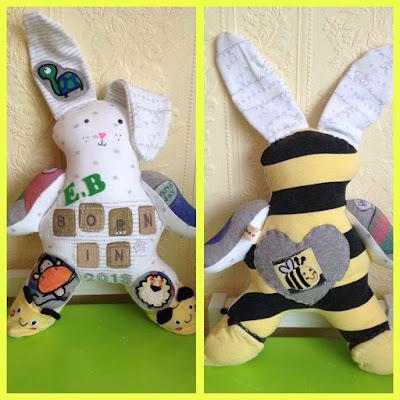 Babygrow Bunny Keepsakes Bunny