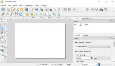 Empty layout QGIS