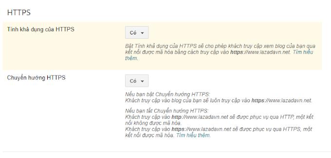 Hướng dẫn bật HTTPS cho blog