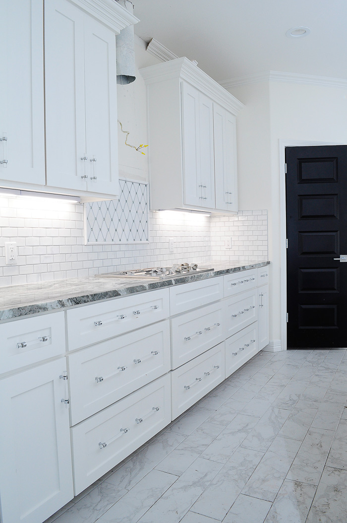 Lucite Cabinet And Drawer Pulls In A White Shaker Kitchen So Affordable About 3