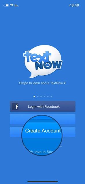 تطبيق رائع : TextNow للحصول على أرقام وهمية مجانية لتفعيل الواتس آب