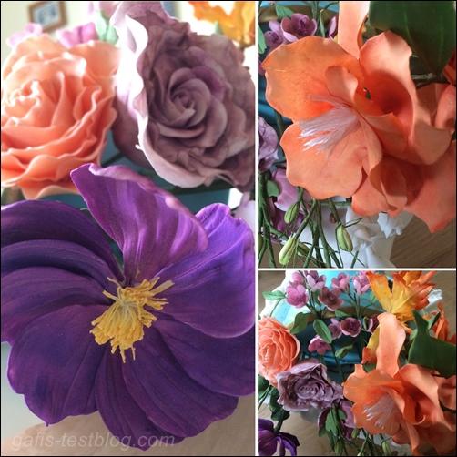 Tortenkunst mit Blüten