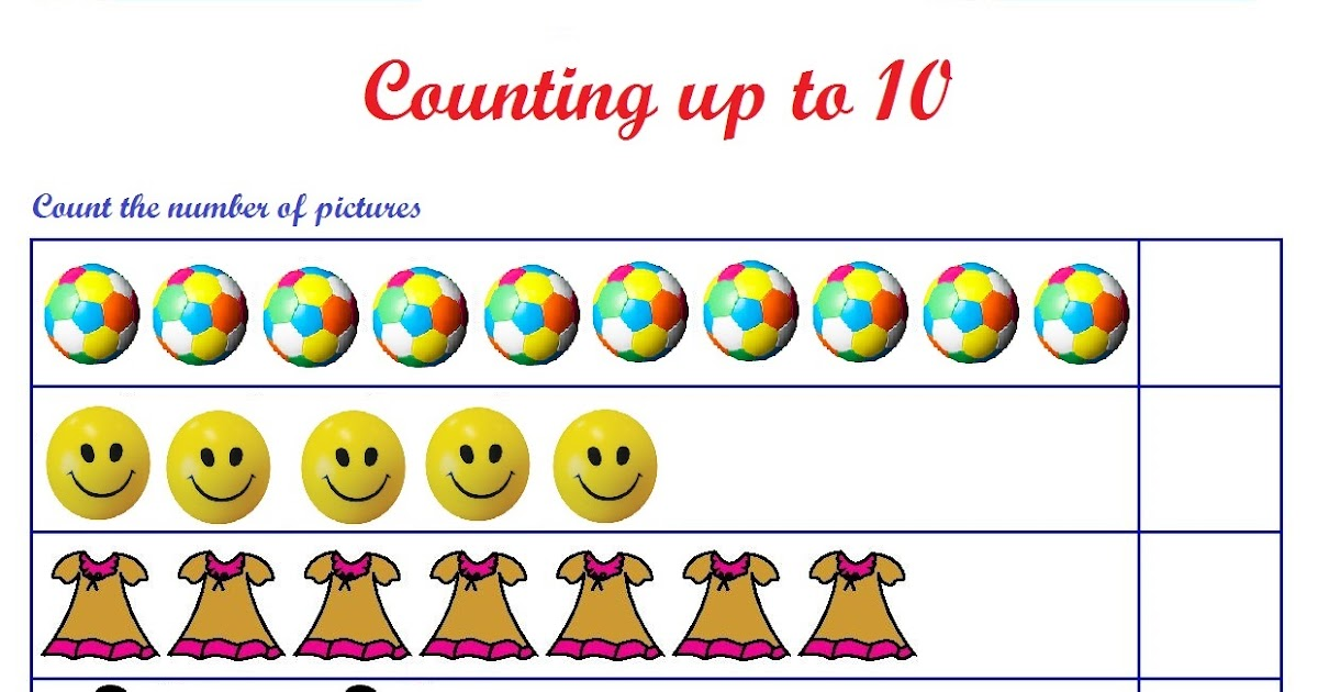 Kindergarten Worksheets Counting Worksheets Count The