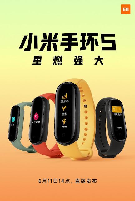 Xiaomi Mi Band 5 já há venda na Gearbest