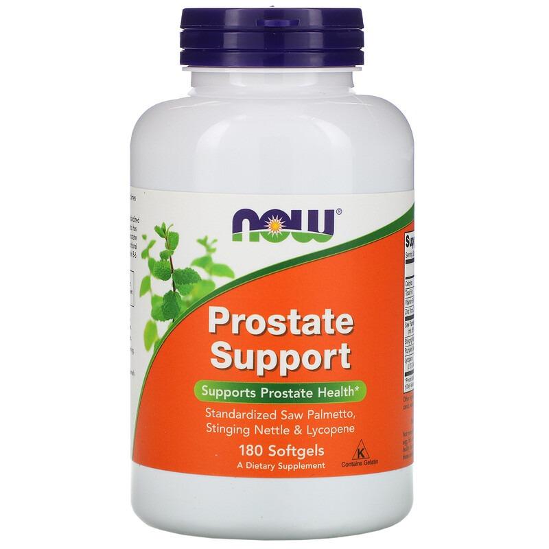 Now Foods, Prostate Support, 180 мягких таблеток