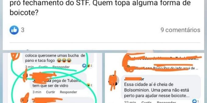 Ji-Paraná - Grupo de pessoas  ameaçam atear fogo em participantes da carreata pró Bolsonaro