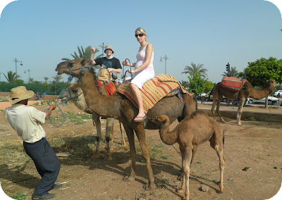 pregnant woman riding a camel, pregnant in Morocco