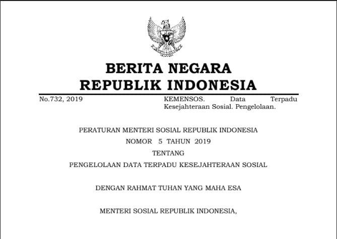 Peraturan Menteri Sosial Republik Indonesia Nomor  Tugas Koordinator Regional dalam Pelaksanaan PKH