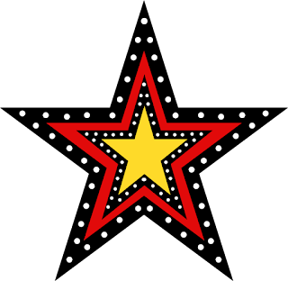 Clipart de Estrellas con Lunares.