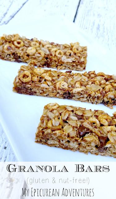 nut-free gluten-free homemade healthy granola bars recipe