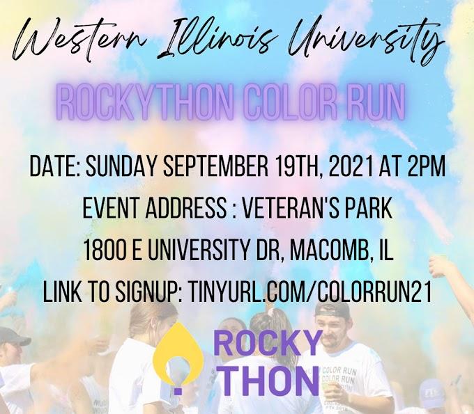 University RockyTHON Dance Marathon Color Run Set for Sept