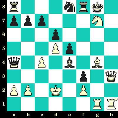 Les Blancs jouent et matent en 2 coups - Nicholas Patterson vs WR. Withers, Siegen, 1970
