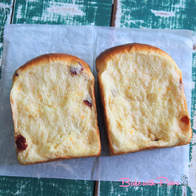 Orange Cranberry Soft Sourdough Bread