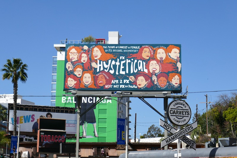 Hysterical documentary billboard