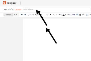 Cara membuat halaman statis di blogger