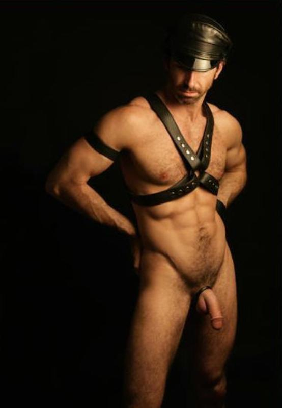 from Nelson leather harness gay man