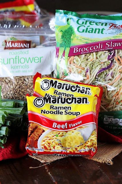 Asian Ramen Noodle Salad with Broccoli Slaw Ingredients Image