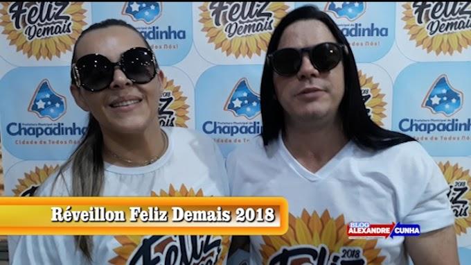 Banda Calcinha Preta já está em Chapadinha e convida você para o Réveillon Feliz Demais 2018.