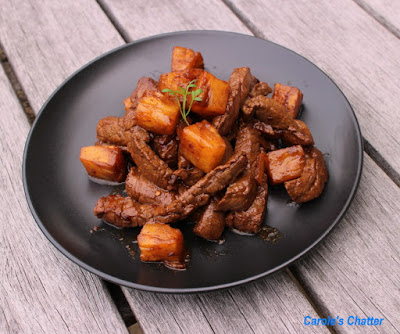 Carole's Chatter: Pineapple Beef & Ginger Stir Fry