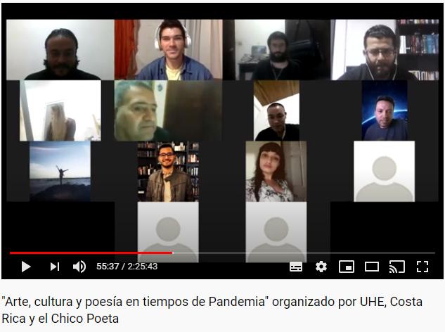 Poetas participantes en poesia arte y cultura en tiempos de pandemia