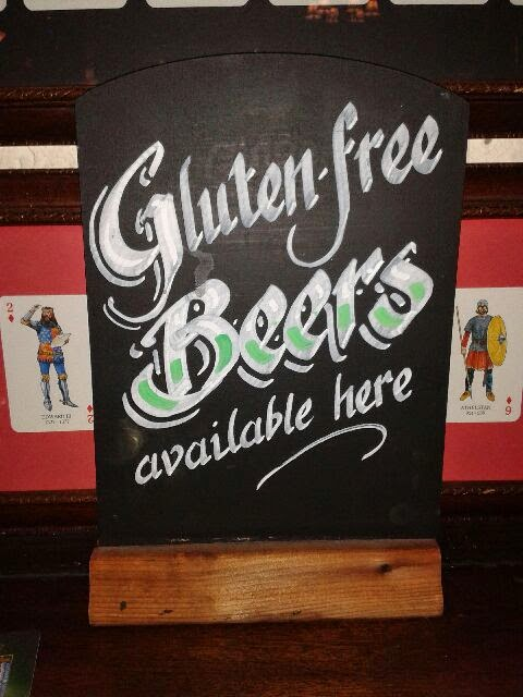 Gluten free beers are available at The King and Queen pub in Fitzrovia, London